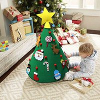 3D 크리스마스 장식 새해 HH9-2548를 들어 장식 매달려 크리스마스 트리 DIY 유아 어린이 선물 장난감 인공 원뿔 가짜 나무 벽 펠트