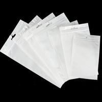 Universale chiaro White Pearl plastica Poli sacchetti di OPP imballaggio Zipper blocco della confezione Accessori in PVC scatole al minuto a mano foro per USB iPhone di Samsung