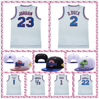 Tune Squad Jersey Erkek Uzay Jam Kap! TAZ 1 Hatalar 2 D.Duck Tweety 10 Lola 22 Murray Şapka Basketbol Forması