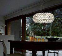 DIA35CM / 50cm / 65cm Modern Foscarini Caboche Hängsmycke Ljus Elegant Style Lustrar Cristal Lustres E Pendentes Transparen / Guldfärg