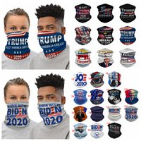 Trump Biden Maskeler Eşarp 2020 Seçim Parti Çok fonksiyonlu Sihirli Kafa Veil Başkanı Eşarp Yeniden Yıkanabilir Yüz bandanas Isıtıcı FFA4318 Maske