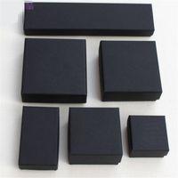 Arquivos High Black Kraft Jóias Embalagem Pulseira Bracelete Colar Anel Ear Nail Box National Ano Novo Presente Personalizar 6 Tamanho