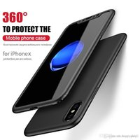 Großhandel 360 Full Coverage Screen Protector Fall für iPhone X 6/78 8 6/7/8 Plus Mode-Stil Anti-Handy-Fällen