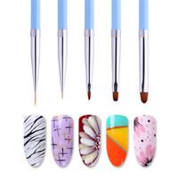Professionelle UV-Gel-Nagel-Kunst-Bürsten-Anstrich-Feder Liner Acryl Zeichnung Pinsel Gradient Griff Maniküre-Nagel-Werkzeuge RRA2529