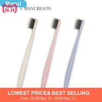 Borui New Fashion 3 PZ ultra morbido spazzolino di bambù carbone nano pennello cura orale spazzolino da denti rosa blu igiene orale C18112601