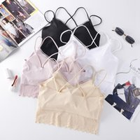 Beauty Back Padded Bra Lace Coudre Tube Top Fashion Lace Mesh Summer Camis Top Nouveau