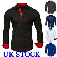 핫 패션 남성 셔츠 긴 소매 슬림 맞춤 캐주얼 셔츠 블라우스 셔츠 블라우스 남성 비즈니스 셔츠 캐주얼 블라우스 탑
