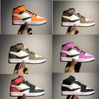 TS 1S Yüksek OG Çocuklar Basketbol Ayakkabıları TS Kaktüs Jack Union 1 Sneakers Spor Çocuk Erkek Kız Eğitmenler Paramparça Arka Plan