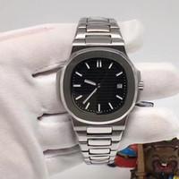 Мужские роскошные автоматические часы 40MM Черный циферблат 5711 5711R из нержавеющей стали Top Nautilus Men механические часы Высокое качество мужские спортивные наручные часы