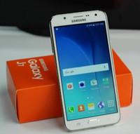 Восстановленное Оригинальный Samsung Galaxy J7 J700F Dual SIM 5,5-дюймовый ЖК-экран окта Ядро 1.5GB RAM 16GB ROM 13 Мпикс 4G LTE открыл мобильный телефон