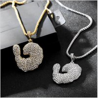 Collana Hip-hop Fashion Hot Sale Idee Diamond Pendant Trends Accessori Full Diamond