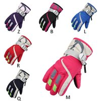 Ветрозащитный Лыжные перчатки Велоспорт снег снегоход Мотоцикл Сноуборд Зимние Водонепроницаемый Теплые Открытый лыжи перчатки