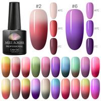 MEET ACROSS 7ml Arcobaleno Nail termica polacco del gel Set di luccichio di 3 colori di temperatura Modifica gel UV Lacquer Soak Off smalto per unghie