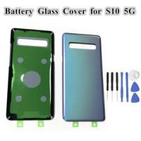 SAMSUNG Galaxy S10 5G VS G977 G977F G977B Pil Geri Cam Kapak Arka Kapı Konut Kılıf + Araçlar Değiştirme için 1pcs Orijinal arka plaka