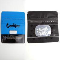 Dustproof Pouch biscoitos Bolsas selva Meninos cookies seco Herb Flower pacote de varejo 3.5g frete grátis