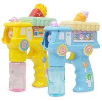 Nueva creativo Pequeño Dolphin automático intermitente burbuja Música ametralladora Blowing juguete burbujas de colores burbujas de jabón al aire libre juguete Kid