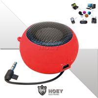 HiFi Bass Mini Speaker MP3 Music 3.5mm Wired Högtalare Spelare Utomhus Portable Hamburger Nya Design Högtalare med Retail Packaging Noey