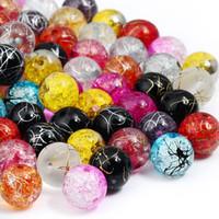 Perline di cristallo ceco assortite rotonde miste assortite Druk per gioielli fai-da-te con bracciale e collana (100 pezzi)