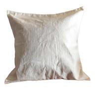 Saf rami düz doğal fildişi yastık kılıfı için gizli zip ile DIY boya / baskı boş rami yastık örtüsü ücretsiz gemi