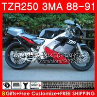 Corps pour YAMAHA TZR-250 3MA TZR250 88 89 90 91 118HM.22 TZR250RR TZR250 RS RR Argent noir chaud YPVS TZR 250 1988 1989 1990 1991 1991 Kit de coiffage