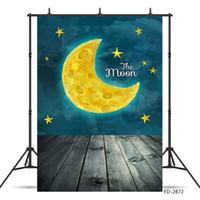 Мультфильм Луны Звездное небо Картина Photoshoot Backdrop Виниловая ткань Студия Фон для детей новорожденный Фотография реквизита