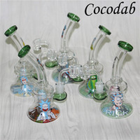 Glass Bong Dab Rig Water Pipes 7. 4' ' 4mm Quartz Ba...
