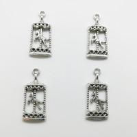 80pcs carosello antico argento charms pendenti gioielli fai da te collana braccialetto orecchini accessori 33 * 15mm personalizzare consegna Generazione