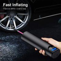 タイヤインフレータコードレス携帯用圧縮機デジタル車のタイヤポンプ12V 150psi充電式エアポンプ用車自転車タイヤボール