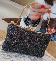 The new 2019 sequins hand bag han edition handbag fashion ha...