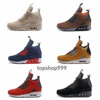 (Toptan Fiyat) 6 Renkler Üst Erkekler Sneakers Kar Kış Sneakerboot Siyah Yeşil Tasarımcı Boots Boyutu 40-45 ile 90 90'lar Orta Erkek Koşu Ayakkabı