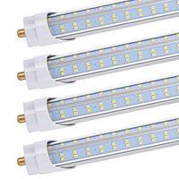 20pcs T8 T10 T12 Tubo luminoso a LED, 8ft, 120w, 6500k, 13000 lumen, fanale singola FA8 Base, forma V, copertura trasparente, bypass a zavorra, doppio end
