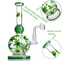 8. 6 inch Three- dimensional maple leaf shape glass bongs oil ...