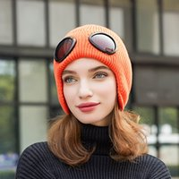 Fashion Thickened Winter Knitted Hat Warm Beanies Skullies S...
