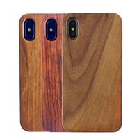 뜨거운 판매 진짜 나무 전화 보호 케이스 TPU 소프트 커버 쉘 아이폰 7 8 플러스 x xr xsmax