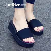 2016 nouvelles sandales de style coréen pour porter des sandales de pente d'été des femmes à l'extérieur avec Antiderapant un mot de sandales pour le refroidissement plage