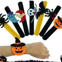 Halloween Slap Bracelet Décoration de fête Chauve-Souris Citrouille Fantôme Forme Série Clap En Peluche Pat Main Cercle Jouet Bracelet Pour Les Enfants livraison gratuite