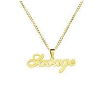 Gold Box Kette Benutzerdefinierte Schmuck Personalisierte Name Anhänger Halskette Handmade Cursive Namensschild Choker Frauen Männer Bijoux BFF Geschenk