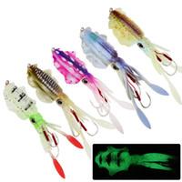 5 Color mezclado 15cm 60g luminosos Jibioneras gancho de pesca Ganchos anzuelos suaves Cebos Señuelos cebo artificial Pesca Caza y Pesca Accesorios