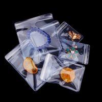 Le sac anti-oxydation en plastique clair de PVC de serrure de tirette pour le sachet en plastique d'emballage de bijoux sonne le sachet de perle de perle de jade anti-ternissement