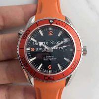 Top Mens Automatic Cal.8500 Guarda Arancione Nero Blu Uomini Apnea James Bond 007 Ocean Diver 600m Planet professionale di gomma orologi della fascia della cinghia