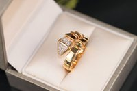 Women ring Snake Shape jewelry S925 Gold plated snake bone r...