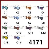 Moda Masculina Mulher Erika Eyewear Designer Marca óculos de sol Matt Leopard Gradiente UV400 lentes de 14 cores 4171 Sunglasses