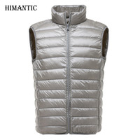 Vestes pour hommes 2021 Automne hiver Vest ultra-léger Hommes Vestes sans manches Homme Colète Down Chaleco Hombre Casual Waitets Coats