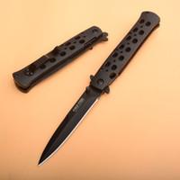 2020 YENİ Promosyon! Soğuk Çelik 26S Cep bıçak beyaz bıçak hızlı açık bıçak 440 bıçak çelik + plastik levha kolu Katlama Bıçakları ABS