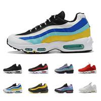 95 airmax plus Zapatillas de running para hombre mujer Original Aqua Laser Fuchsia Neon Triple White SE hombre traciners sneakers deportivas