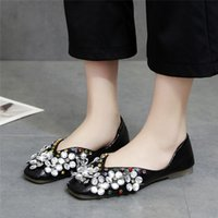 Woman Elegant Crystal Flats Ballet Shoes Spring 2019 Luxury ...