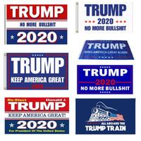 12 disegni Trump 2020 Bandiera Donald Trump Flag Keep America Grande Donald per il presidente campagna banner 90 * 150cm Bandiere giardino