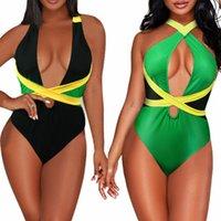 VOARYISA femmes One Piece Drapeau des Caraïbes Rasta Body Shaping monokini maillot de bain Maillot de Bain de MX200613