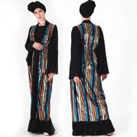 Muslim erwachsenen bunten Pailletten Abaya Arabische Mode Perlstickerei kräuselt islamische Kleider Musical Robe Ramadan Kleidung dropship