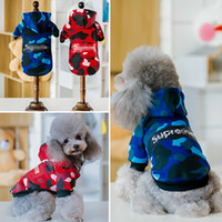 Pet dog clothes Sweater collars tide brand clothes sweater p...